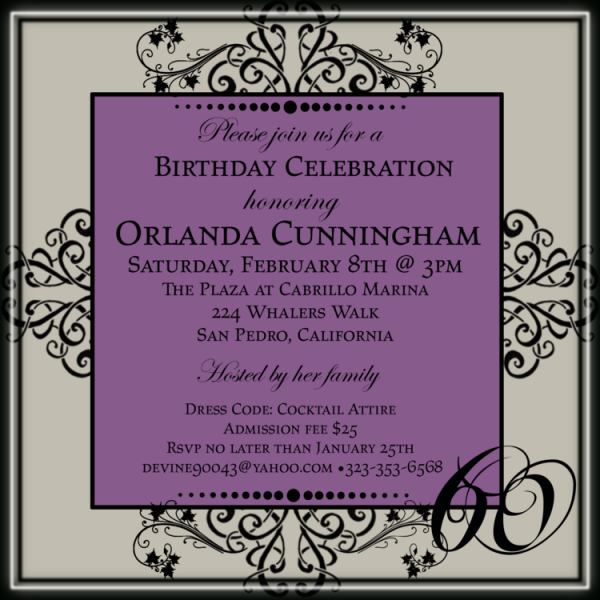 Birthday Invitation (front)